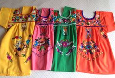 612 Months Colorful Baby/ Toddler Mexican Girls by RanchoAlpino, $20.00
