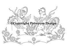 Vintage Embroidery Pattern PDF - Gossip Girls. $2.50, via Etsy.