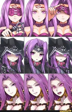 The Gorgeous Gorgon, Medusa Fate Stay Night Series, Fate Stay Night Anime, Female Characters, Anime Characters, Type Moon Anime, Character Art, Character Design, Fate/stay Night, Medusa Gorgon