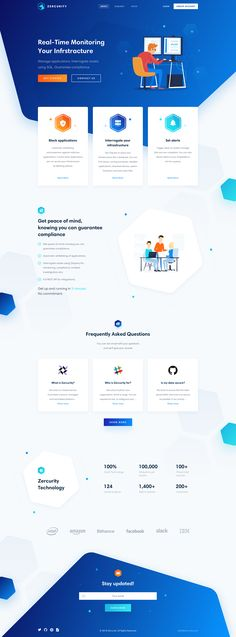 Zercurity Landing Page on Behance