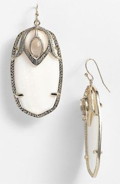 Kendra Scott 'Darby' Oval Stone Statement Earrings available at #Nordstrom