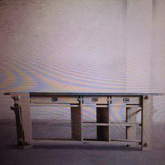 Bancone con morsa e piano in zinco 85x220x75w €1339