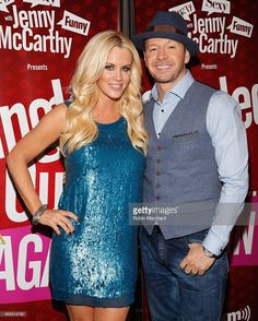 Jenny McCarthy (L) and Donnie Wahlberg attend 'Singled Out...Again' On Her Exclusive SiriusXM Show, 'Dirty, Sexy, Funny With Jenny McCarthy' on February 12, 2015 in New York City.