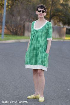 Pocketful of Posies Dress - Women's PDF Sewing Pattern by http://blankslatepatterns.com