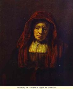 Rembrandt. Portrait of an Old Woman. Olga's Gallery.