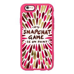 Snapchat – Pink & Gold - iPhone 6s Case,iPhone 6 Case,iPhone 6s Plus... ($40) ❤ liked on Polyvore featuring accessories, tech accessories, iphone case, apple iphone cases, iphone cover case, iphone cases and iphone hard case