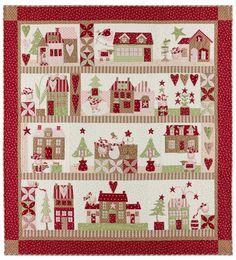 Mistletoe Lane Quilt by Anne Sutton of Bunny Hill Designs - Fat Quarter Shop's Jolly Jabber