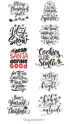 Free Christmas Quotes Design Bundle is part of Christmas svg - Cricut Fonts, Cricut Vinyl, Cricut Air, Cricut Svg Files Free, Cricut Craft Room, Noel Christmas, Christmas Projects, Christmas Design, Christmas Fonts