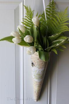 Pretty spring arrangement for the front door...