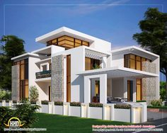 Contemporary Home Architecture | Awesome dream homes plans - Kerala home design and floor plans