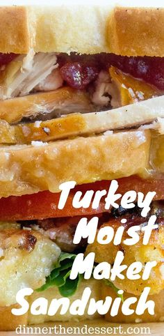 The sandwich is sweet from the cranberry sauce, savory from the turkey, salty from the gravy fresh from the tomato and lettuce and crunchy from the stuffing. This Turkey Moist Maker Sandwich is not just about reliving the glory days of Friends, but it's also an amazingly well balanced sandwich. Monica definitely knew what she was doing.
