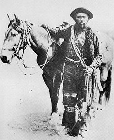"""My favourite image of Gabriel Dumont. He's holding his rifle """"Le Petit"""" and looks like he's been surprised by the photographer. """"A plug felt hat was set low over his brow, his deep-set eyes missing nothing. Government Of Canada, Deep Set Eyes, Canadian History, Images And Words, Red River, Le Far West, Mountain Man, My Favorite Image, Old West"""