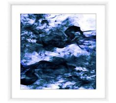 "Navy II 23"" Square Framed Giclee Wall Art | 55DowningStreet.com"