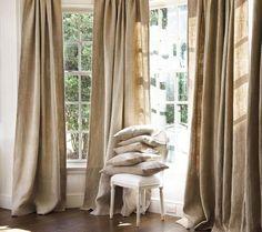 "Ikea Aina Pure Natural Textured European Linen Curtains Drapes 2 Panels 57""X98"" #IKEA"