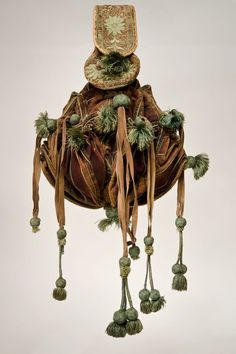 Leather pouch w/ silk embroidery southern Germany dated 1604 Bayerisches Mationalmuseum Munchen