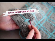 Sara Delaney demonstrates a clever and simple way to create beautiful plaid fabric with your knitting!