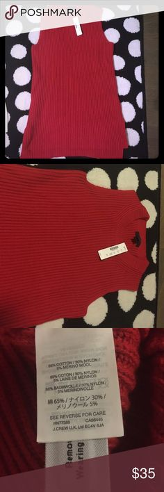 Sweater shirt tank jcrew With tags , length long almost up up to hip, cozy beautiful to wear with a nice necklace for holidays!! jcrew Sweaters Crew & Scoop Necks