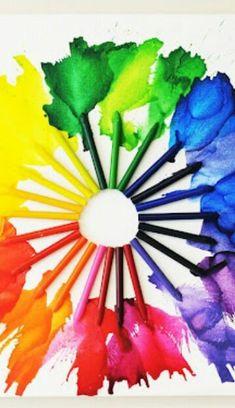 Rainbow   Arc-en-ciel   Arcobaleno   レインボー   Regenbogen   Радуга   Colours   Texture   Style   Form   Melted Crayons