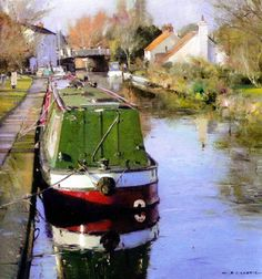 Canal boat. David Curtis