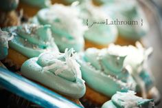 Pale blue icing with white and silver decor. Blue Frosting | by Inside The Paper Box