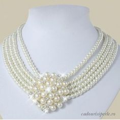 Colier Five Stars Pearl Necklace, Pearls, Jewelry, Fashion, Culture, String Of Pearls, Moda, Jewlery, Beaded Necklace