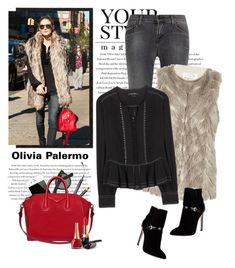"""""""Olivia Palermo"""" by yexyka ❤ liked on Polyvore featuring Pussycat, Envi, J Brand, River Island, Chantecaille, Isabel Marant, Givenchy and Emilio Pucci"""