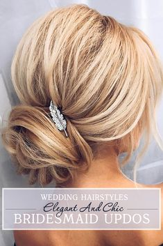 30 Bridesmaid Updos - Elegant And Chic Hairstyles ❤ If you are looking for hairstyle for your bridesmaid, we've stunning ideas. Bridesmaid updos are hairstyles that look perfect for short or long hair. See more: http://www.weddingforward.com/bridesmaid-updos/ #wedding #weddinghairstyles #bridalhairdo #bridesmaidupdos