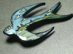 Landscape Swallow - wearable art brooch | Flickr - Photo Sharing!