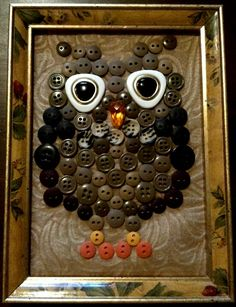 Button owl. DIY