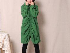 3 colors cotton dress long sleeve Fold dress by fashionwomanstore, $63.00
