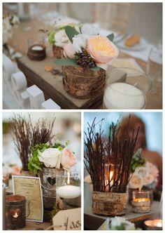 Centros de mesa originales on pinterest mesas bodas and - Mesas de centro rusticas ...