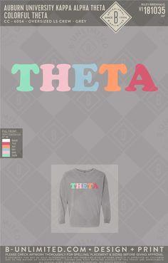 #Theta #GreekLife #Sorority #CustomTees Kappa Alpha Theta, Phi Mu, Auburn University, Greek Clothing, Custom Tees, Greek Life, Custom Clothes, Sorority, Print Design