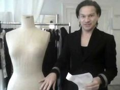 """Showing how to drape in a more controlled manner.  In this part I discuss draping vs. pattern-making.  You can find my Interactive Patterns at http://i.DTTA.dk (click the logo and then choose interactive patterns). And the father of all pattern-making I mentioned, was the German mathematician Dr. Henry Wampen. He's first attempt was """"The Mathemat..."""