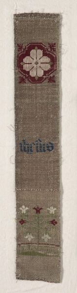 Fragment of Border, 1300s - 1400s  Germany, Cologne, 14th-15th century  compound…