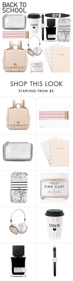 """""""NEW BLOGPOST!! on victoriainspires.blogspot.com"""" by victoriamk ❤ liked on Polyvore featuring Proenza Schouler, STELLA McCARTNEY, Rianna Phillips, Herbivore, Frends, MiN New York, Daniel Wellington, Maybelline, BackToSchool and backpacks"""