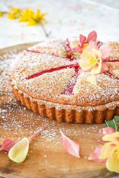 Rhubarb Almond Tart Recipe ~ A Spring Dessert from Baking for Friends
