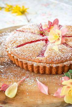 Rhubarb Almond Tart Recipe ~ A Spring Dessert from Baking for Friends