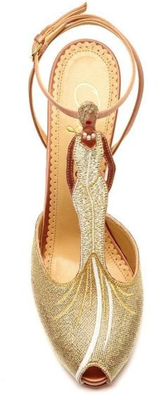 Mae West Woven and Satin T-Bar Sandals by Charlotte Olympia ♥✤ | Keep Smiling | BeStayBeautiful
