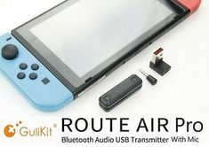 Here's a way to connect your favorite Bluetooth earphones to you Nintendo Switch. The GuliKit Route Air Bluetooth Adapter is perfect for your needs and supports Bluetooth protocols up to aptX LL. Voice Chat, Bluetooth Headphones, Screens, Nintendo Switch, Connection, Gaming, Audio, Usb, Tech