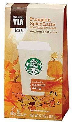 Pumpkin spice drinks! Starbucks VIA pumpkin spice latte. #pumpkin #pumpkinspice #spice #drinks