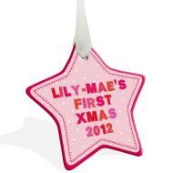My Fist Christmas Star Decoration
