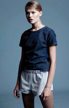 UNIF.M Denim Pull-On Shorts
