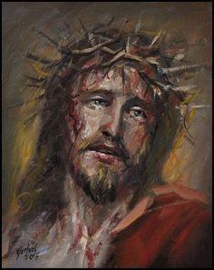 Jesus loves us Crucifixion Painting, Jesus Christ Painting, Crucifixion Of Jesus, Jesus Crucifixion Pictures, Pictures Of Jesus Christ, Jesus Christ Images, Catholic Art, Religious Art, Image Jesus
