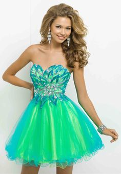green and turquoise
