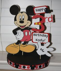 Mickey Mouse birthday sign