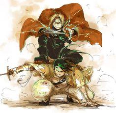 Edward-Kun y Ling Yao Nii-chan <3 No hay otras dos personas que juntas me hagan fantasear despierta.... Aunque prefiero la actitud de Greed....