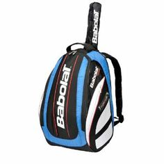 Babolat Team Blue Tennis Backpack by Babolat. $54.95. The Babolat Team Backpack is designed to provide you with convenient storage solutions combined with practicality and comfort. These bags are designed to enhance your tennis experience with features and design that'll stand you in good stead whether you're a recreational player or a tournament player on the move.Features include: dimensions of 17. 3 x 13. 8 x 7. 9 in, 18- litre capacity, racket holder with grip protec...