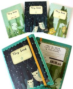 Land-Air-Water Set of 3 Mini Journals by Susie Ghahremani / boygirlparty.com – the boygirlparty shop – shop.boygirlparty.com