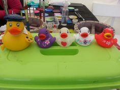 An Artist at work! Ducks strike a pose!