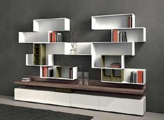 Marcel BookcaseDisplay Stand in Matte Walnut modern bookcases